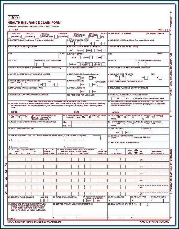 Medicare Billing Form 1500