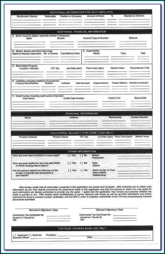 Metrobank M Free Credit Card Application Form