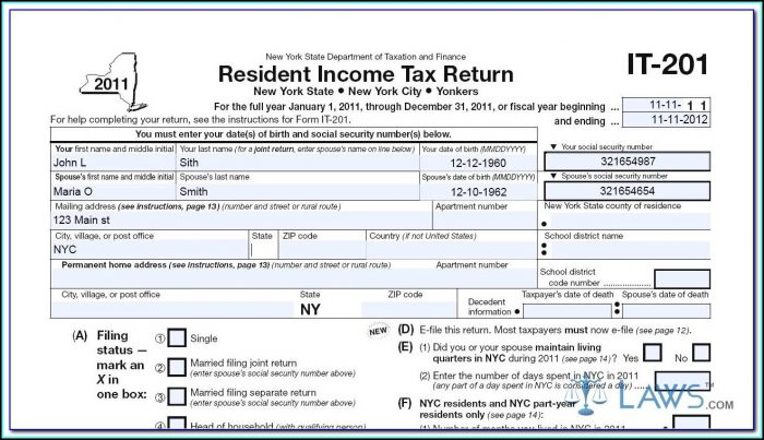 Ny State Tax Form It 2014