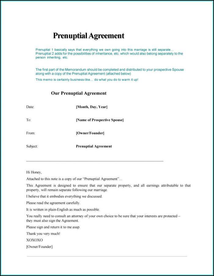 Prenup Agreement Format