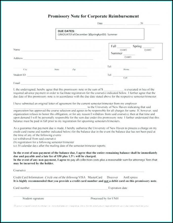Promissory Note Forms Download