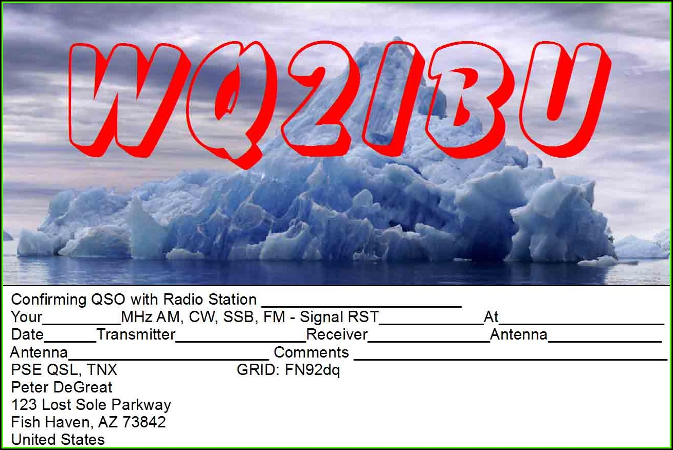 Qsl Card Template Microsoft Publisher