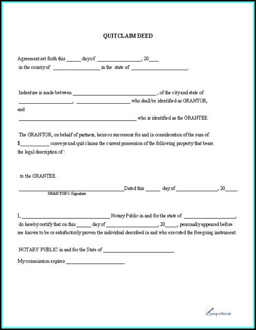 Quick Deed Claim Form