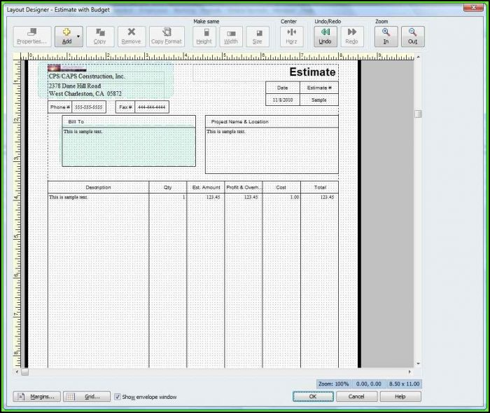 free contractor estimate forms pdf