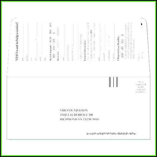 Remittance Envelope Templates
