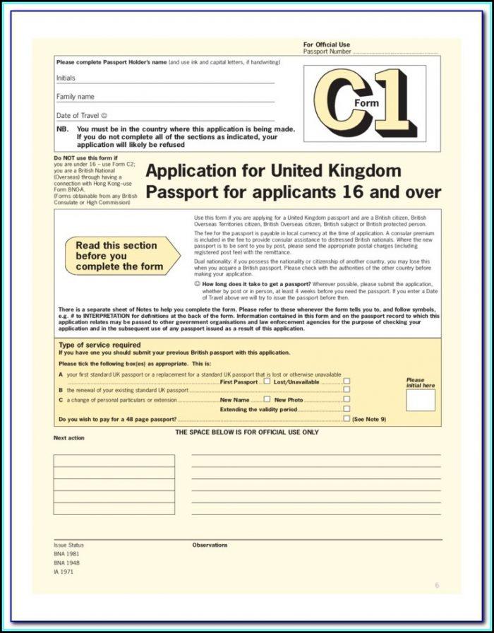 Renewal Passport Forms Australia