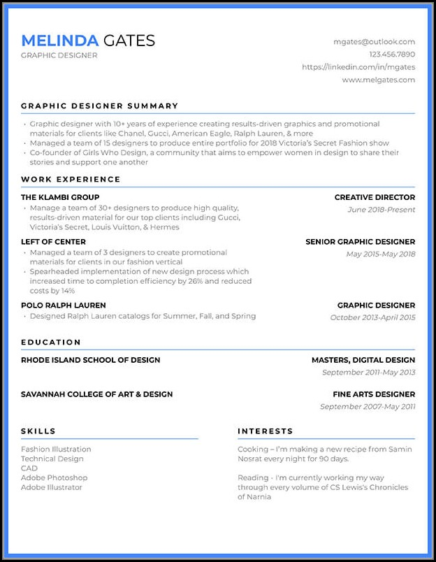 Resume Templates Builder Free