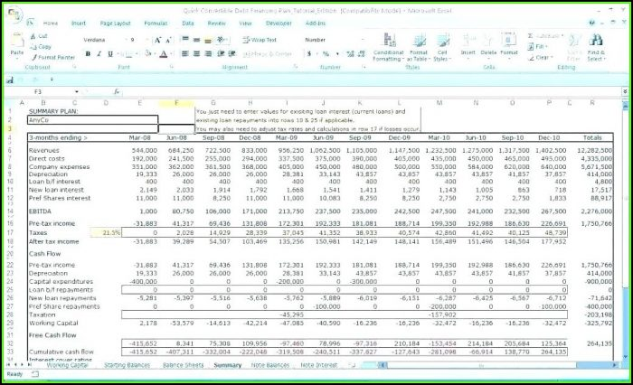 Sales Forecast Model Excel Template