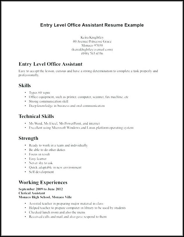Samples Of Medical Office Assistant Resumes