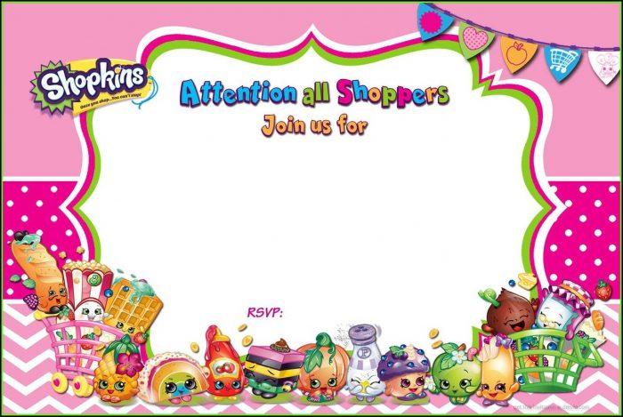 Shopkins Birthday Invitation Template Free
