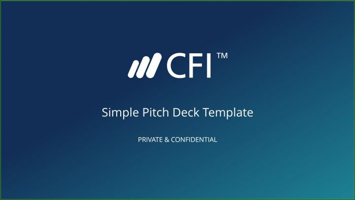 Startup Pitch Deck Template Free Download