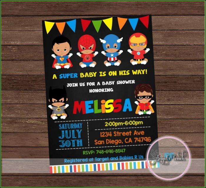Superhero Baby Shower Invitation Templates Free