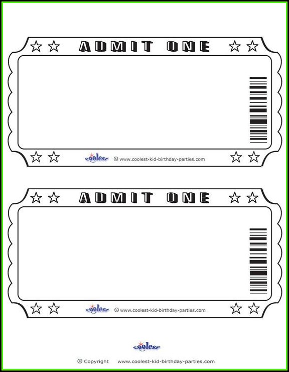 Ticket Stub Template Free