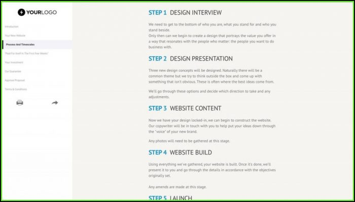Web Design Proposal Templates Free Download