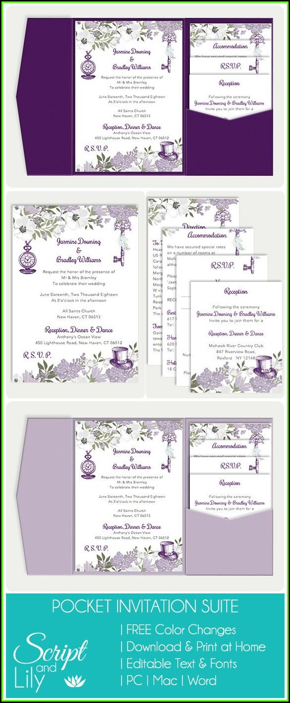 Wedding Invitation Template Download And Print