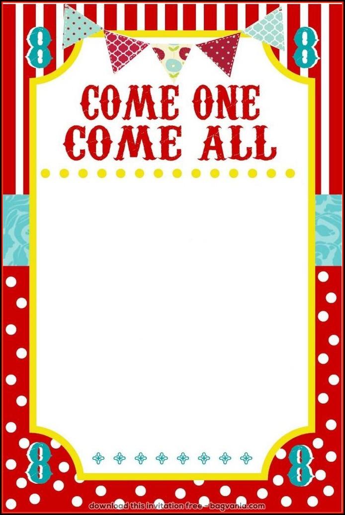 Carnival Invitation Template Free