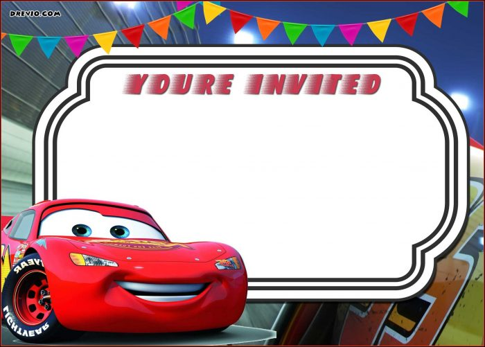 Cars Birthday Invitation Template Free