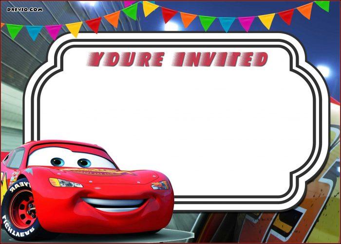 Cars Birthday Invitation Template Free