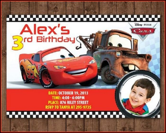 Cars Invitation Card Template