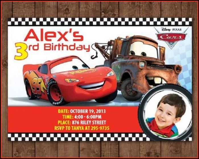 Cars Invitation Card Template