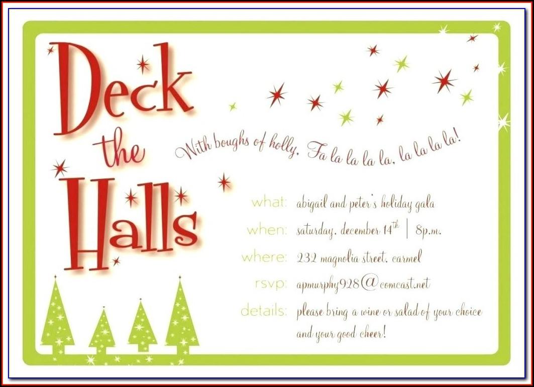 Christmas Dinner Invitation Wording Corporate