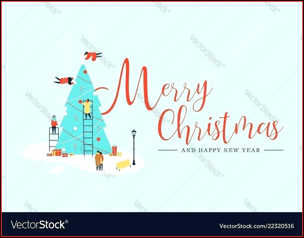 Christmas Tree Place Card Template