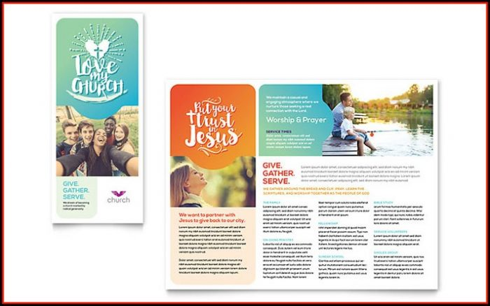 Church Brochure Template Publisher