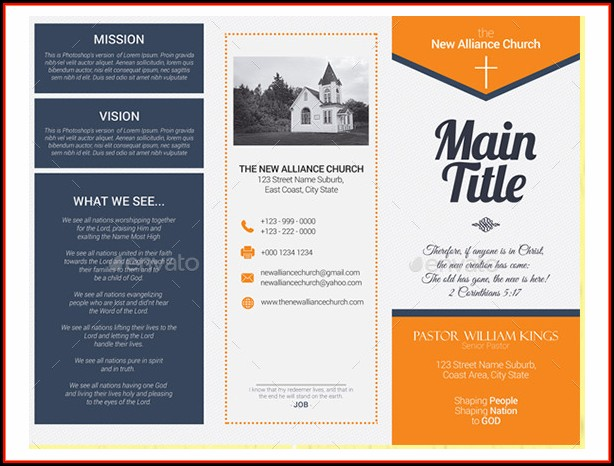 Church Brochure Templates