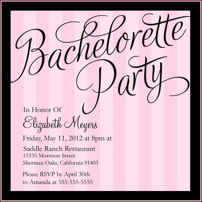 Classy Bachelorette Invitation Template