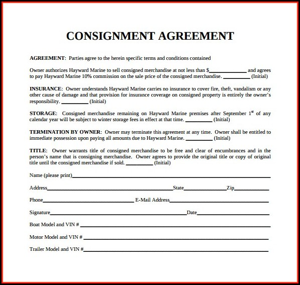 Consignment Stock Contract Template