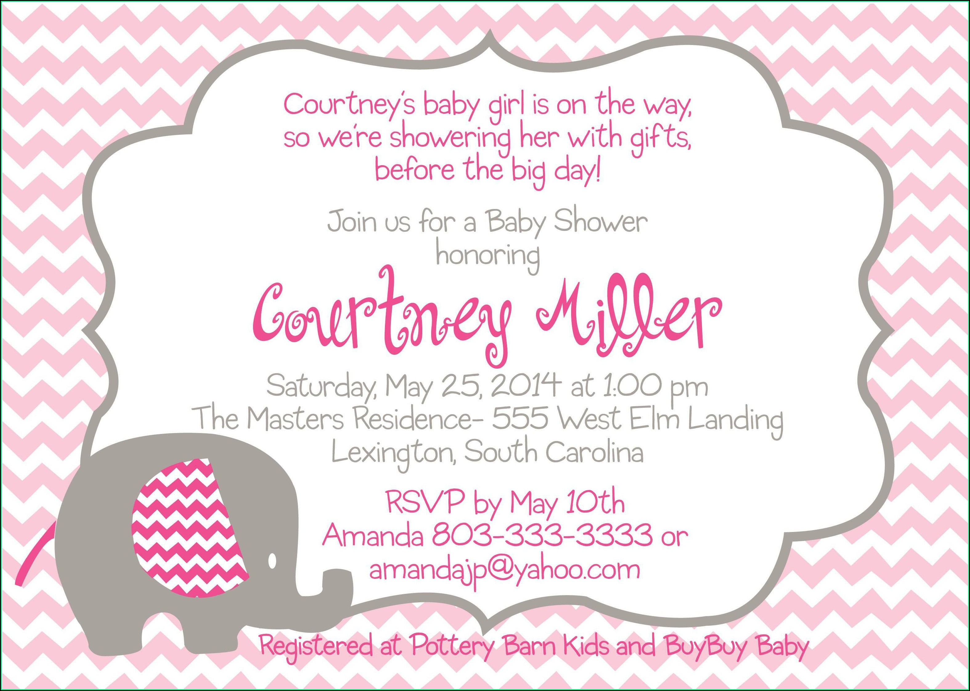 Digital Baby Shower Invitation Templates