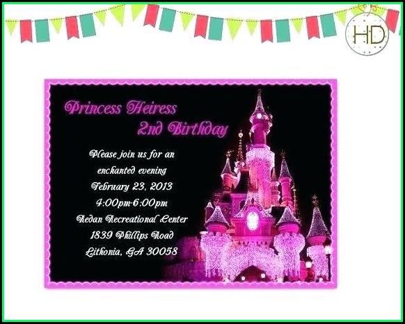 Disneyland Paris Invitation Template Free