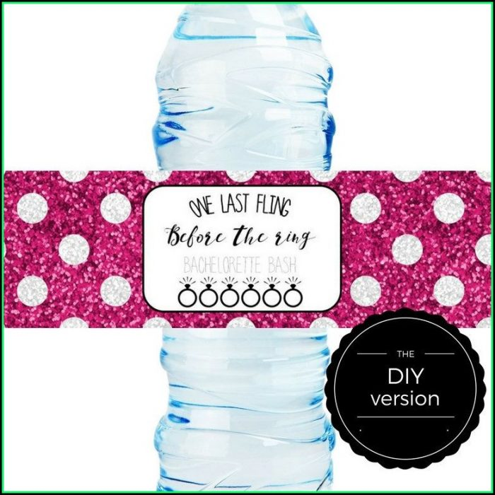 Diy Water Bottle Label Template