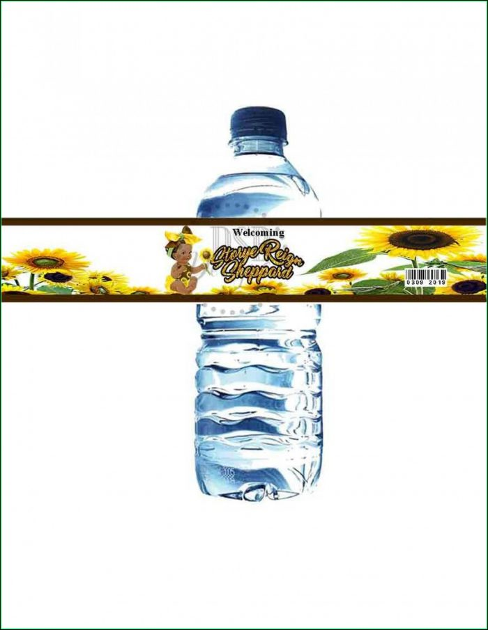 Diy Water Bottle Label Template Free