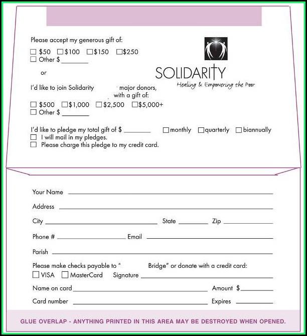 Donation Envelope Template