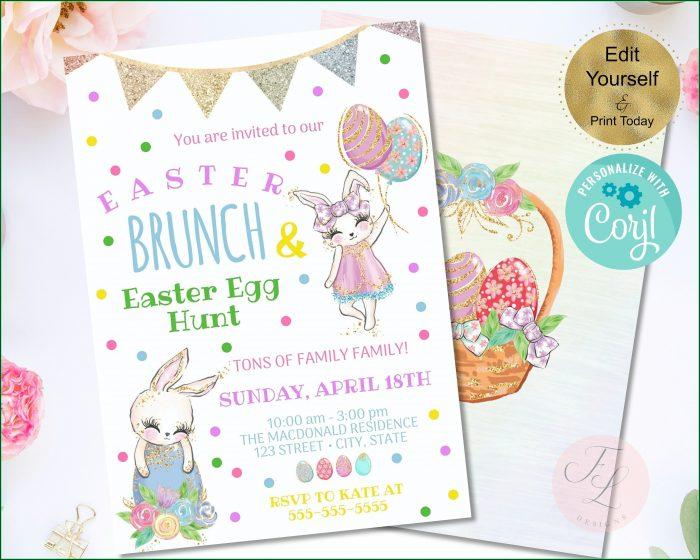 Easter Brunch Invitation Template