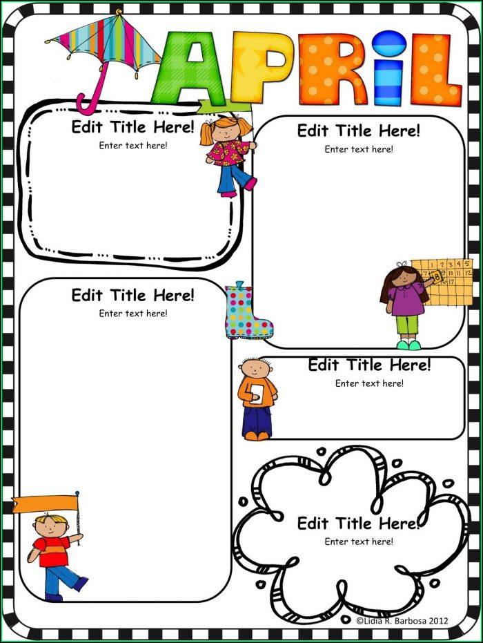 Editable Newsletter Template For Preschool