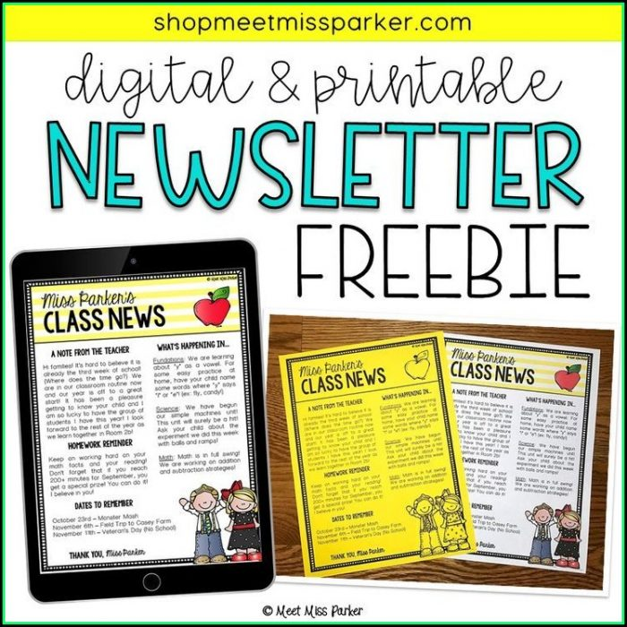 Editable Newsletter Template Free