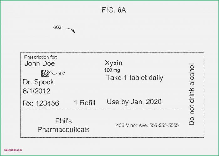 Editable Prescription Bottle Template