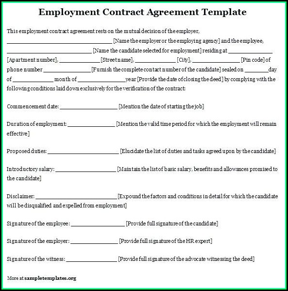 Employee Contracts Templates
