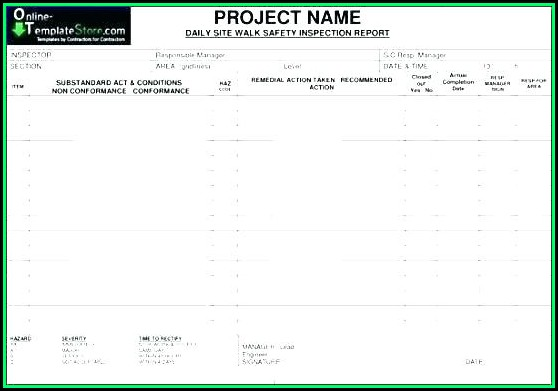 Engineering Construction Punch List Template