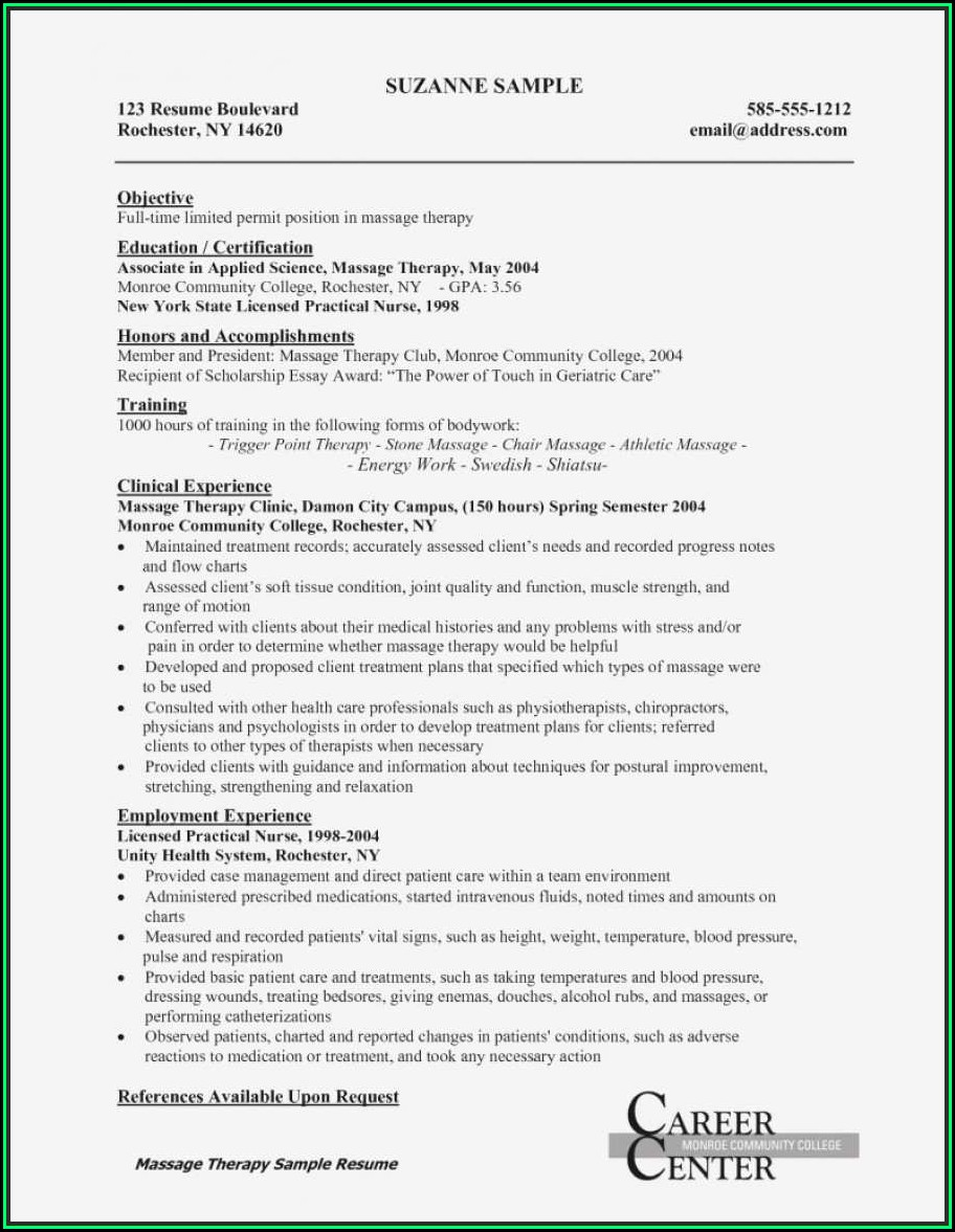 Entry Level Lpn Resume Template