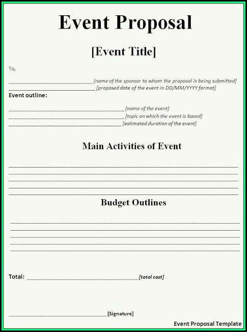 Event Proposal Template Free Download
