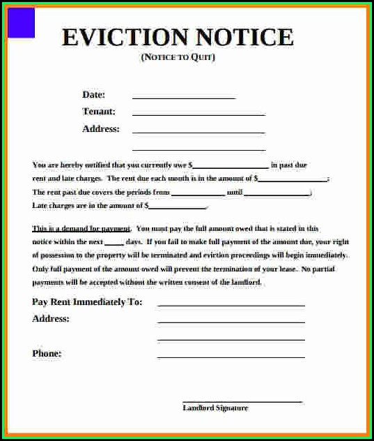 Eviction Notice Template California