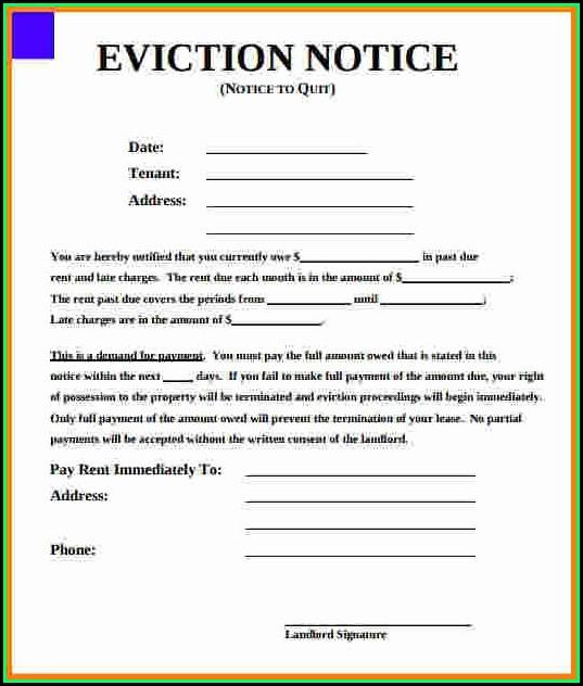 Eviction Notice Template California
