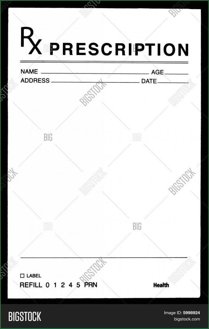 Fake Prescription Template Microsoft Word