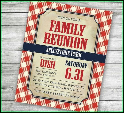 Family Reunion Letter Template Free