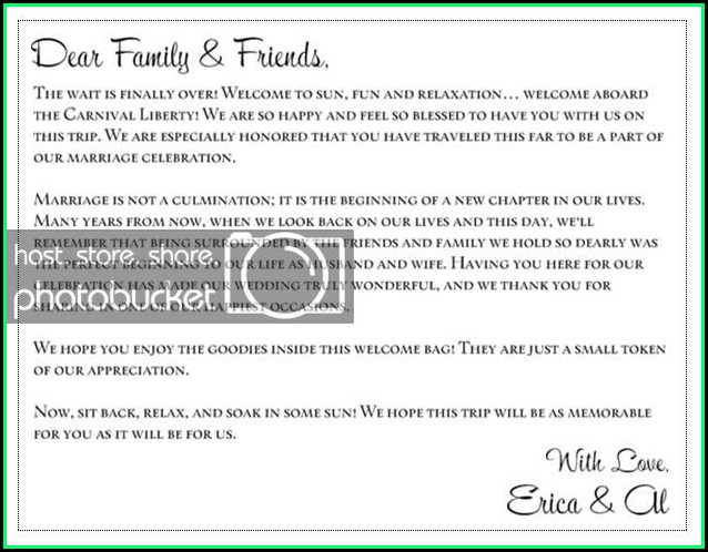 Family Reunion Welcome Letter Template