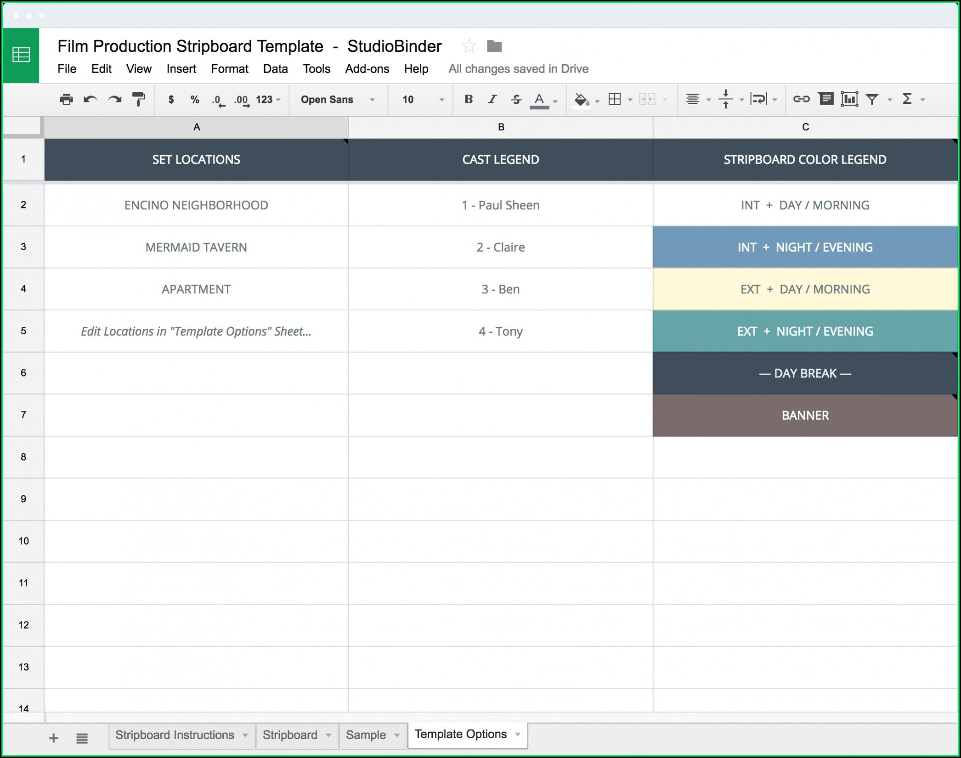 Film Production Schedule Template Excel