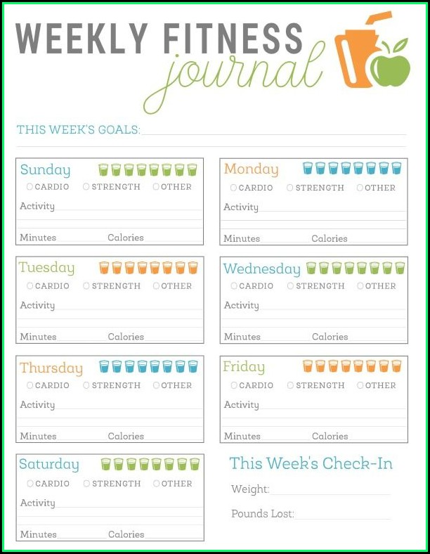 Fitness Journal Template Free